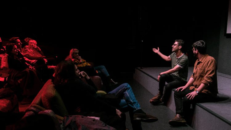 Berlin Film Society hosting a Q&A onstage in our cinema.